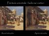 03-peinture orientale avant et après retouche