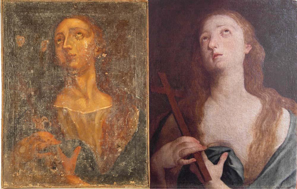 Restauration tableau Marie-Madeleine